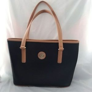 Kim Rogers Shoulder Bag Black Tan